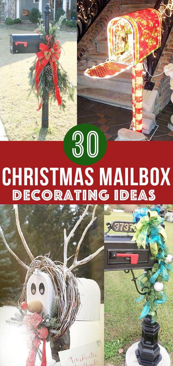 30 Christmas Mailbox Decoration Ideas; Unique ways to decorate your mailbox for Christmas