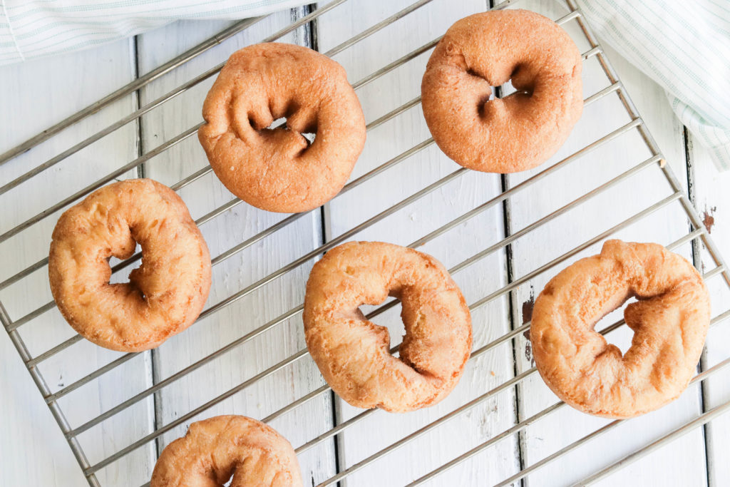 Plain Gluten Free Donuts; delicious easy vegan and gluten-free donuts. Healthier version of your favourite dessert and snack. Treat yourself to a soft, fluffy, oat flour donut. Refined sugar free!