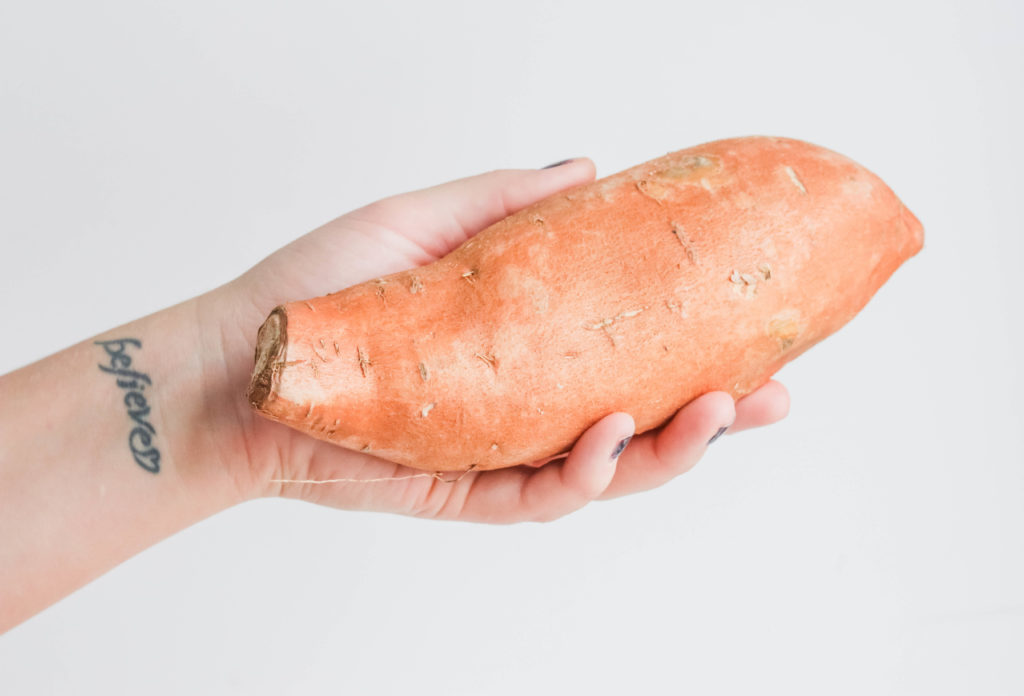 Sweet potatoes are a perfect starch to add to soup for extra flavor