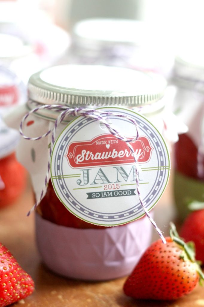 Homemade fruit jam canned in mason jars is a perfect homemade gift