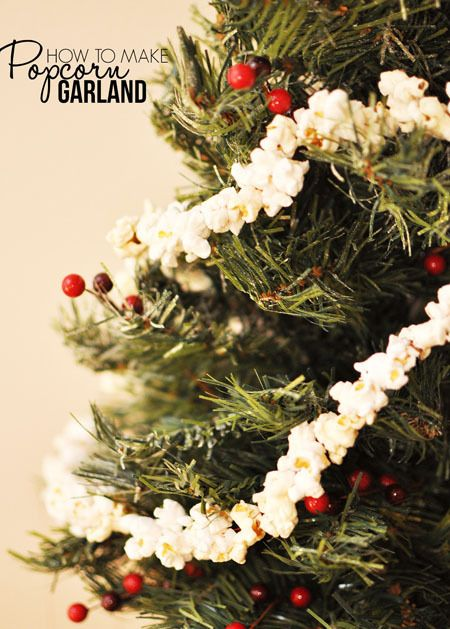 Homemade popcorn garland is a classic Christmas decoration that's a must for your Christmas tree!