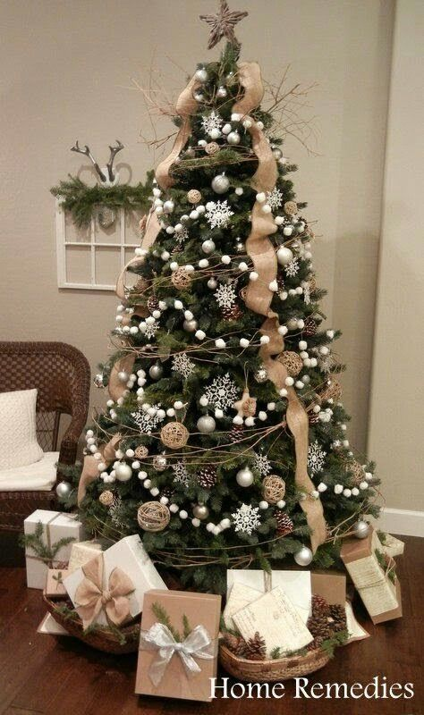 Classic ball ornaments are such a versatile Christmas tree decoration! This tree uses different size ball ornaments, which looks great