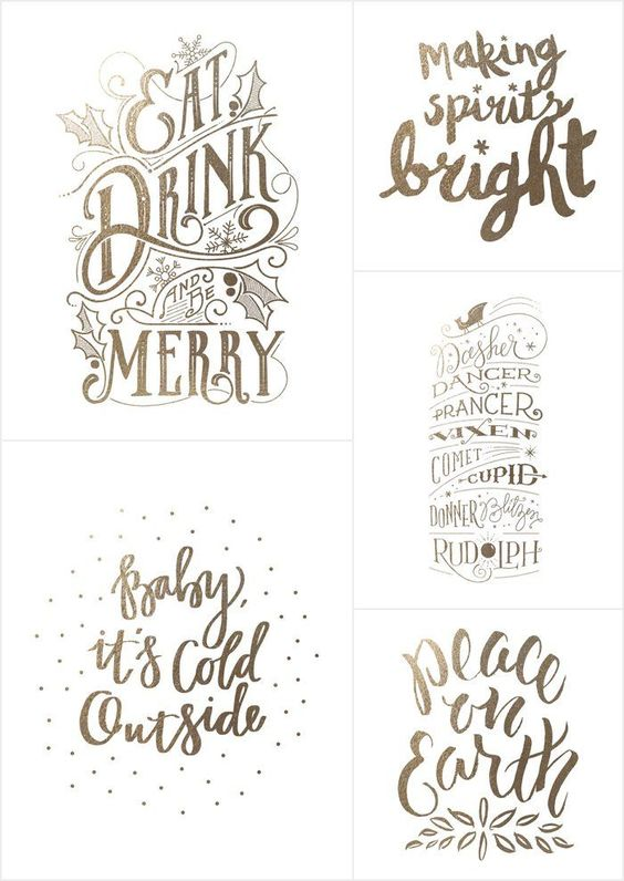 These white and gold Christmas printables are the perfect addition to your White and Gold Christmas Decor