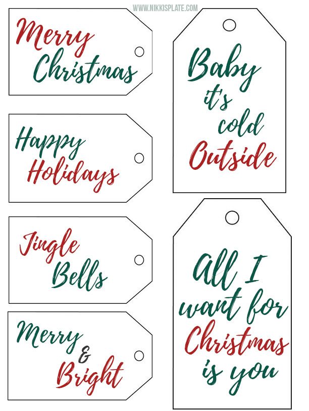 Download these free printable christmas tags today and add the perfect touch to your holiday gifts!