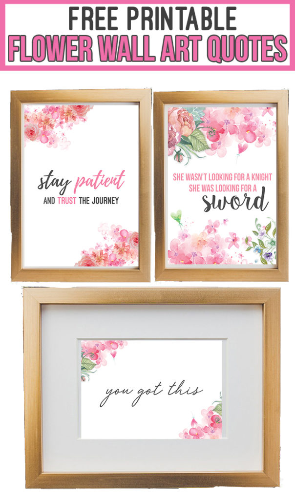 These floral wall art printables are the perfect addition to your home decor, for a gallery wall, or your office