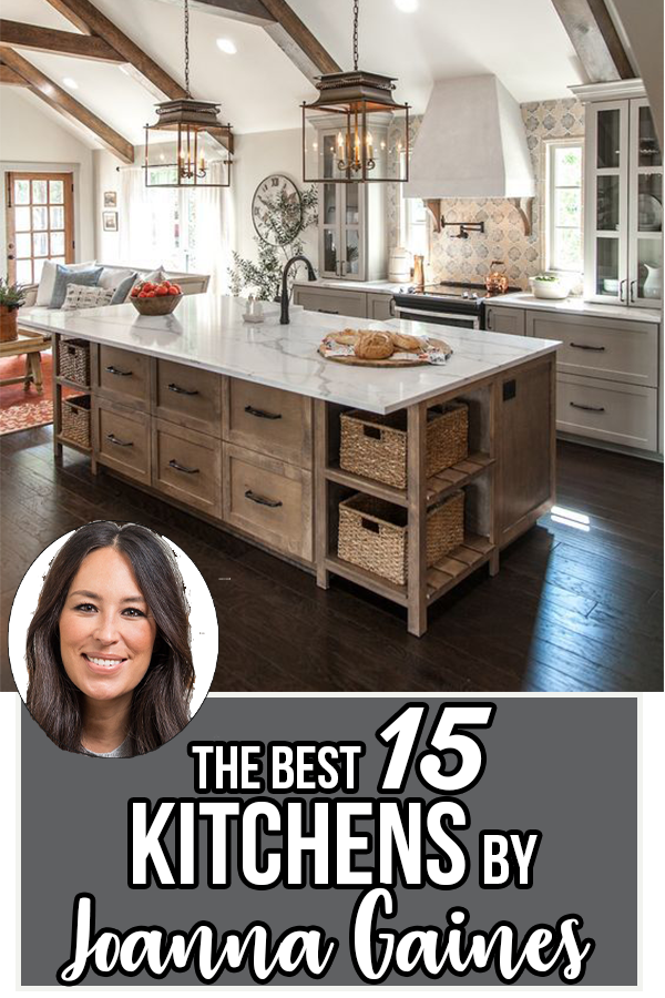 15 Best Kitchens by Joanna Gaines - A round up post of the best kitchens by Joanna Gaines! HGTV's Fixer Upper designer. Country rustic and modern charm. Kitchen renovations.