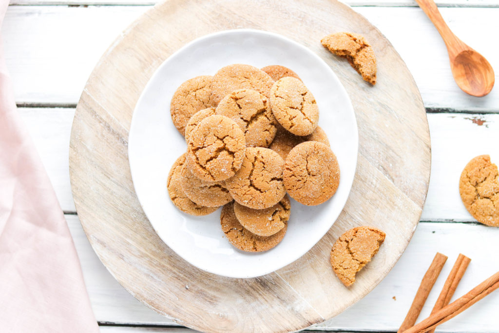 These delicious vegan ginger molasses cookies are the perfect holiday treat on the healthier side, so you feel guilt free.