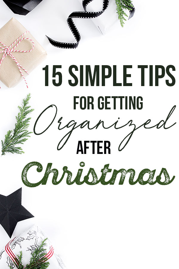 Getting organized after Christmas can be hard, but it doesn't have to be! With these tips, you can easily put your life back together once the holiday season is over! #organized #christmas #afterchristmas #organization    Nikki's Plate