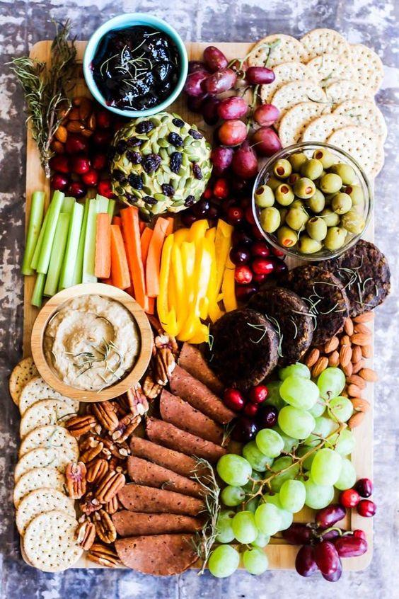 Healthy Super Bowl Appetizers (Vegan, Gluten Free, Sugar Free)    Vegan Charcuterie board #superbowl #appetizers #healthy #vegan    Nikki's Plate