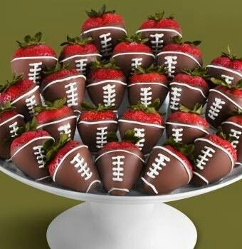 Healthy Super Bowl Appetizers (Vegan, Gluten Free, Sugar Free)    Chocolate Covered Strawberries football #footballs #superbowl #appetizers    Nikki's Plate