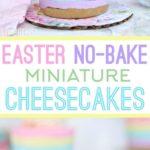 Easter No Bake Miniature Cheesecakes || Cute Easter Recipes || Dessert - www.nikkisplate.com