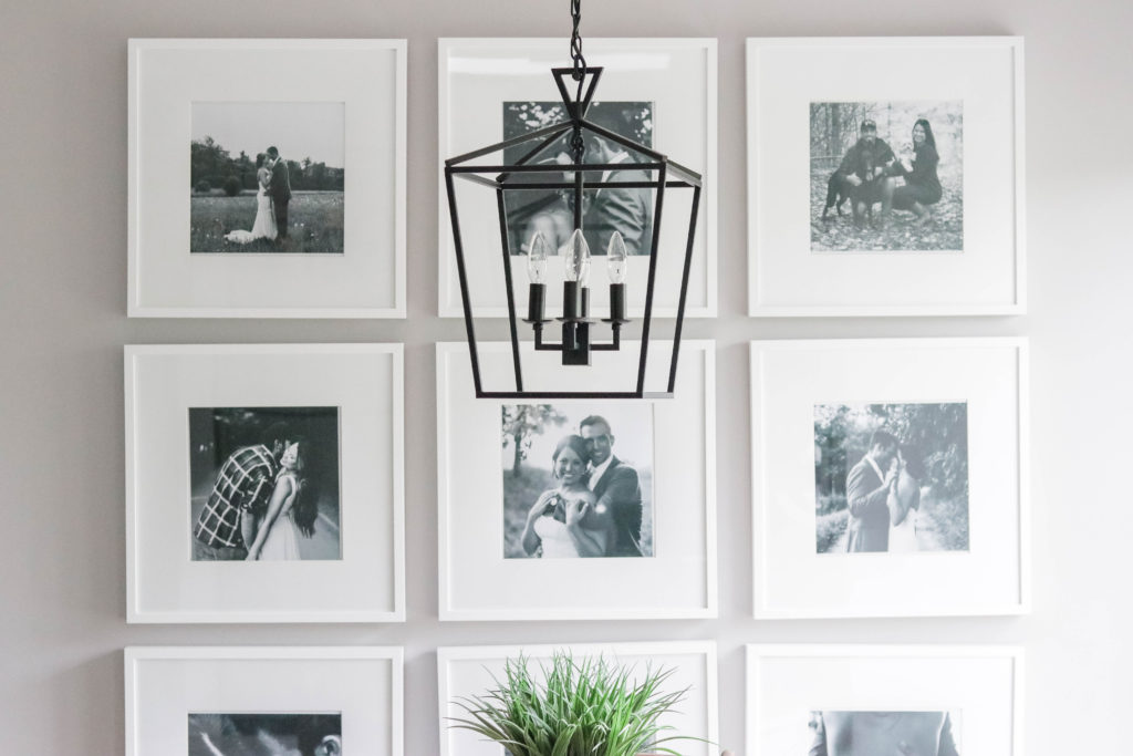 These large pictures frames are from IKEA and were just perfect for the DIY photo gallery wall were were envisioning in our home.