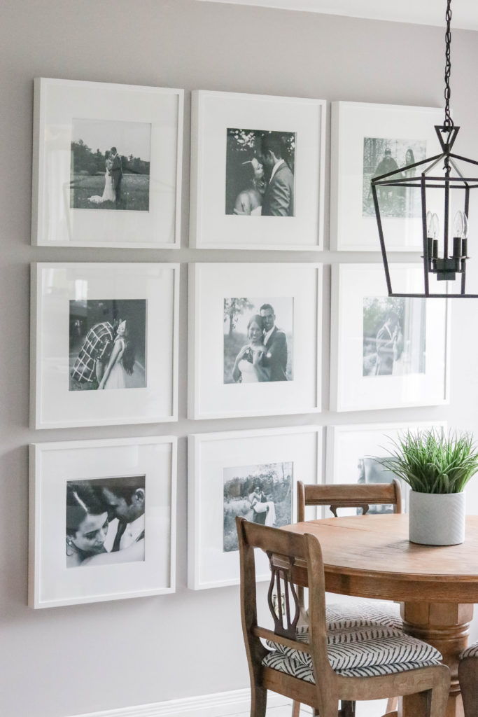 Photo Gallery Wall reveal with tips and tricks for putting up your very own picture galleries!