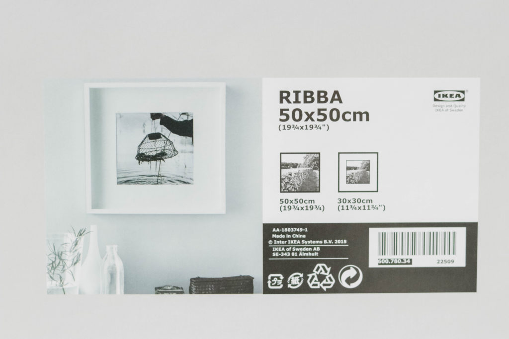 Large 50cm x 50 cm RIBBA picture frames from IKEA