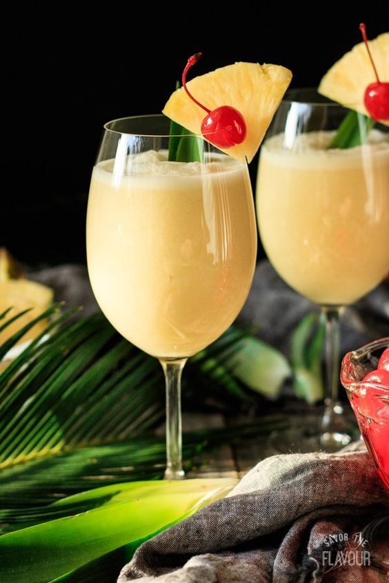 9 Fun Non-Alcoholic Mocktails - this non-alcoholic pina colada is a sweet and creamy summer drink made with tart and sweet pineapple.