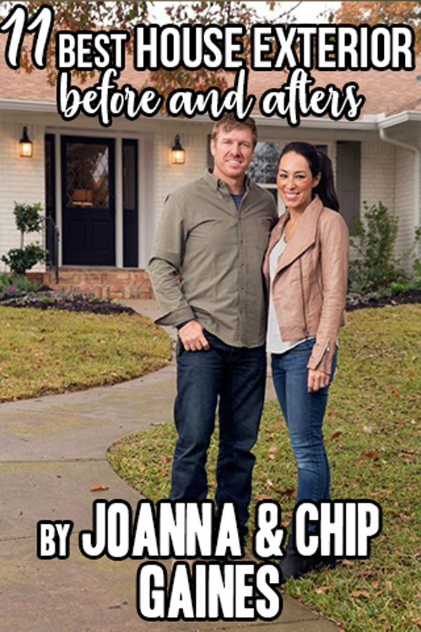 11 Best House Exterior Renovations By Joanna Gaines; Here are the best before and after reveals on the show Fixer Upper. House Front, Curb Appeal and Home Front. #housebeforeandafter #fixerupper #joannagaines