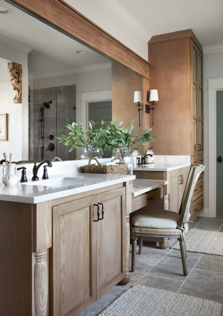 Best Bathrooms by Joanna Gaines; Fixer upper's top bathroom renovations by Joanna and chip Gaines! These rustic, country with hints of modern perfection bathrooms are everything #joannagaines #bathroom #bathrooms #renovations || Wood Vanity- Nikki's Plate