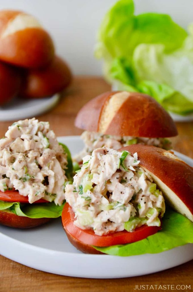 Easy Leftover Turkey Recipes; Not sure what to do with your leftover turkey from the holidays? Try these 15 easy and delicious recipes to avoid waste and keep you turkey stuffed! turkey salad sandwich  #leftoverturkey #turkeysaladsandwhich
