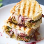 Easy Leftover Turkey Recipes; Not sure what to do with your leftover turkey from the holidays? Try these 15 easy and delicious recipes to avoid waste and keep you turkey stuffed! turkey panini - sandwich lunch #leftoverturkey #panini
