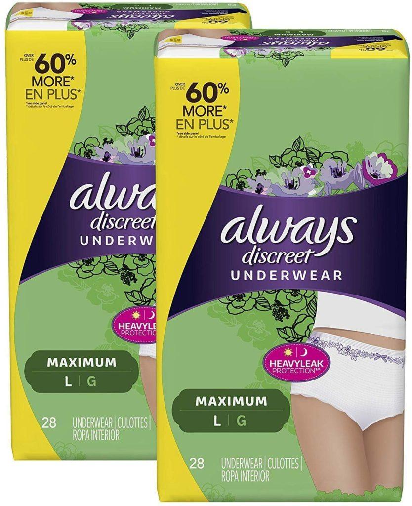 My Postpartum Must Haves: Always Discreet underwear - perfect for postpartum moms!
