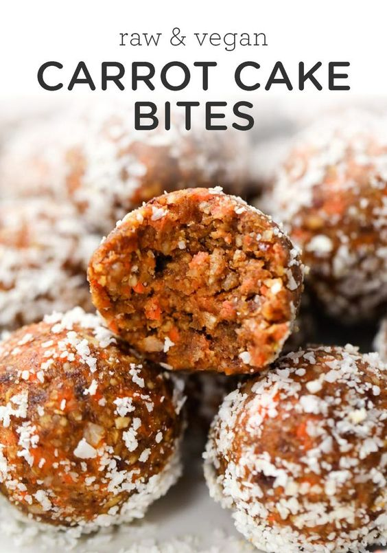 These carrot cake bites are packed with flavor! This healthy poppable dessert is a great way to treat yourself.