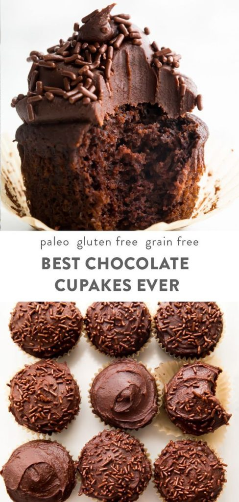 Chocolate iced chocolate cupcakes can't possibly be healthy, right?! Not these Paleo Chocolate cupcakes! A healthy chocolate treat you can't resist.