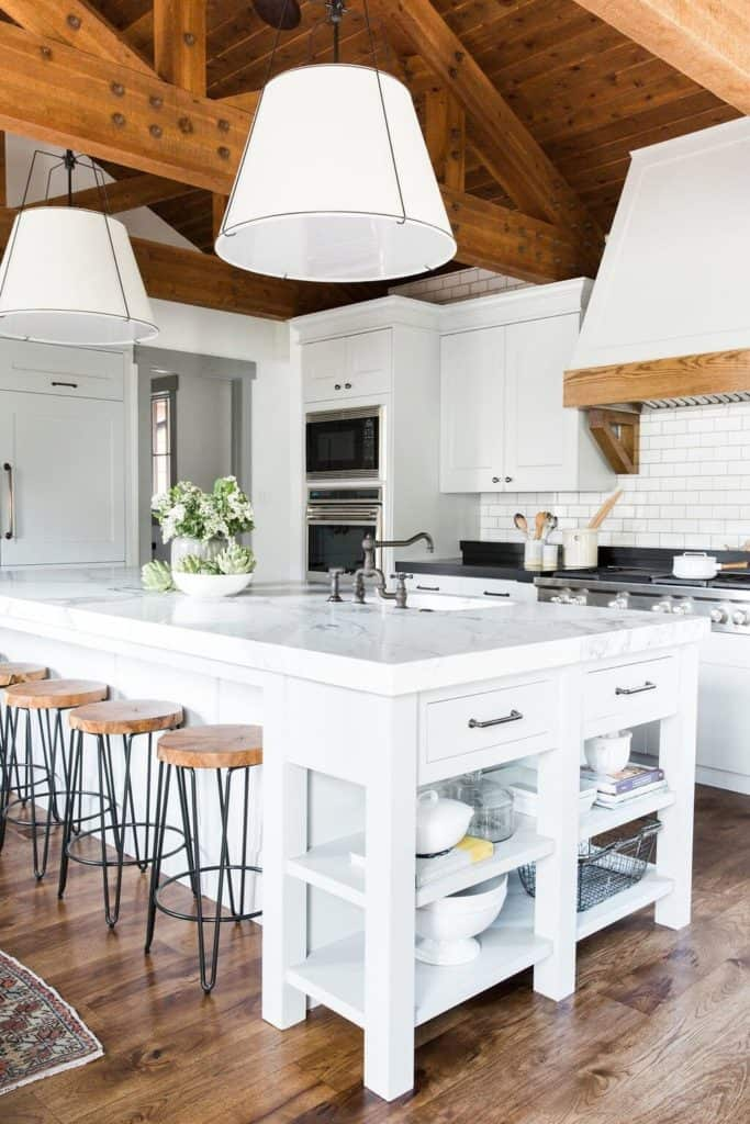 11 Best Kitchens by Studio McGee; This chic farmhouse kitchen is a bright, open space that's perfect for large families