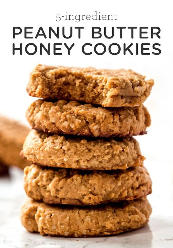 Honey Peanut Butter Cookies are sweet and salty, soft and delicious! They're the perfect cookie to enjoy with some milk for a healthy treat.