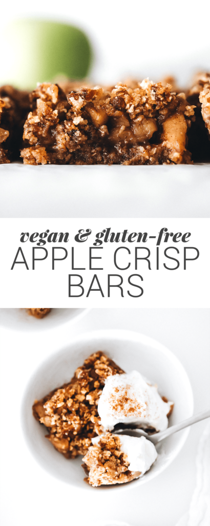 Apple Crisp bars are the perfect healthy dessert for the holiday season AND your New Year weight loss journey.
