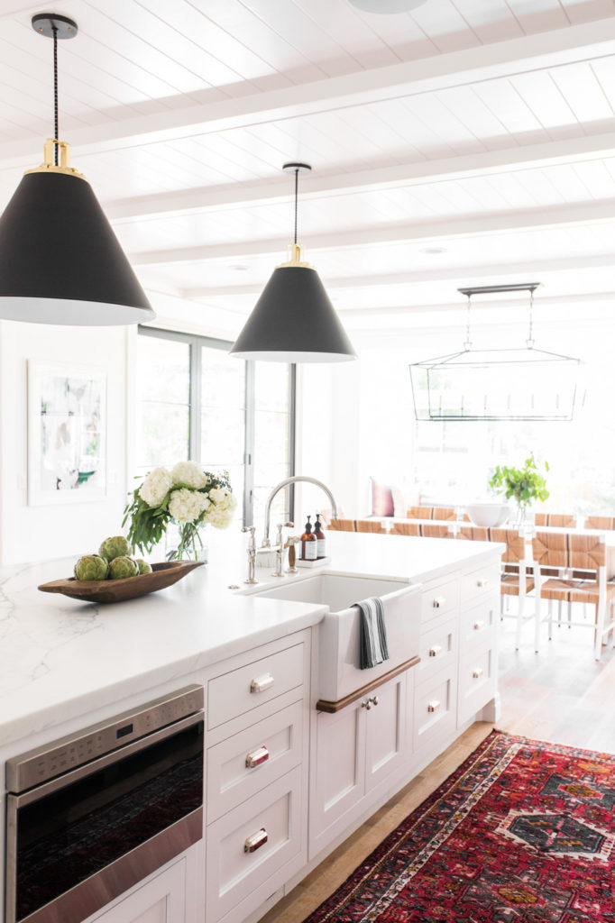 11 Best Kitchens by Studio McGee; This modern farmhouse kitchen is bright and open, with plenty of counter space to cook and entertain