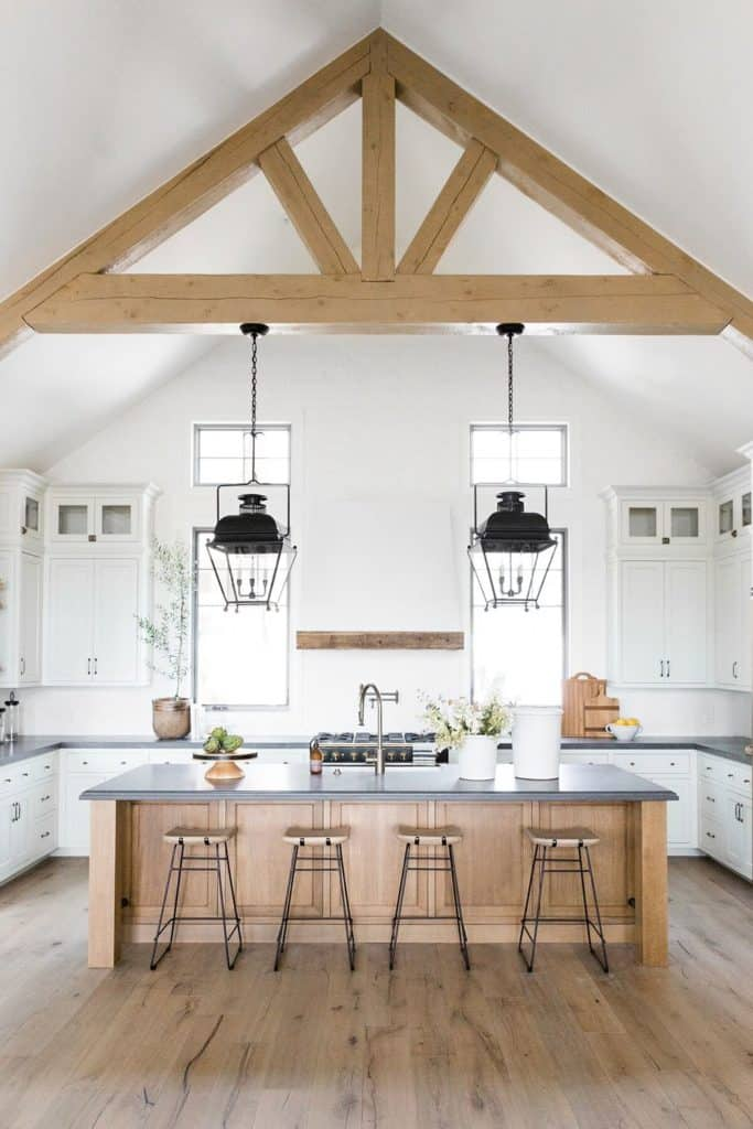 11 Best Kitchens by Studio McGee; The high vaulted ceilings in this kitchen really open the space up! It's so nice to have so much storage and natural light