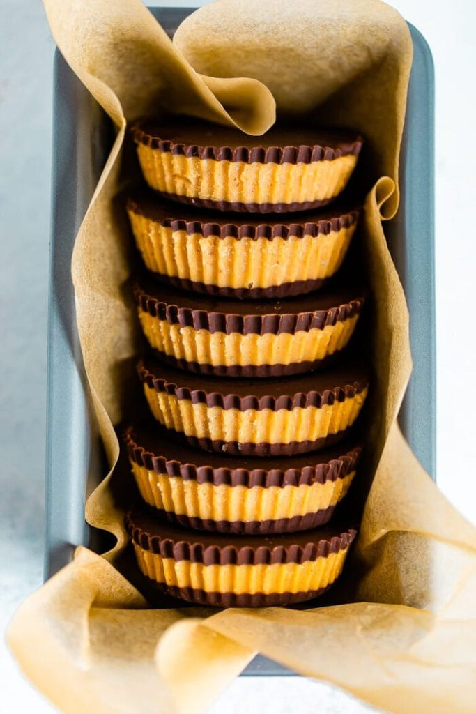 These homemade peanut butter cups are a healthier version of a classic treat!