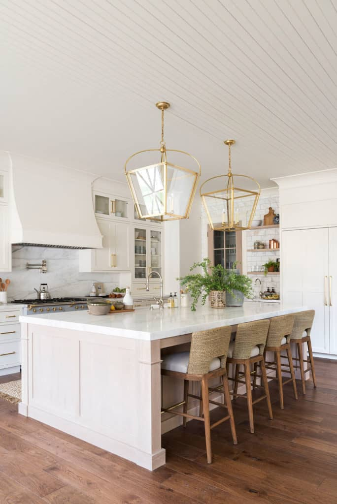 11 Best Kitchens by Studio McGee; The breakfast bar in this farmhouse style kitchen is a great place for family to gather
