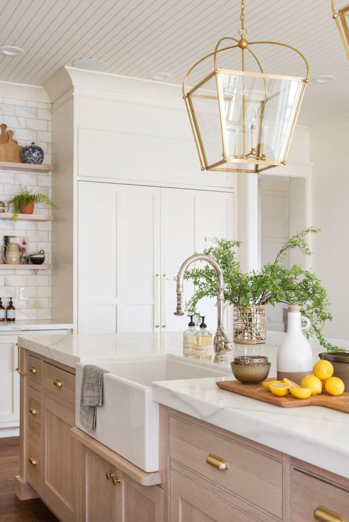 11 Best Kitchens by Studio McGee; I love the light wood cabinetry in this farmhouse style kitchen!
