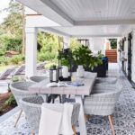 15 Deck Must Haves for Summer Entertaining; outdoor dining table, wicker chairs