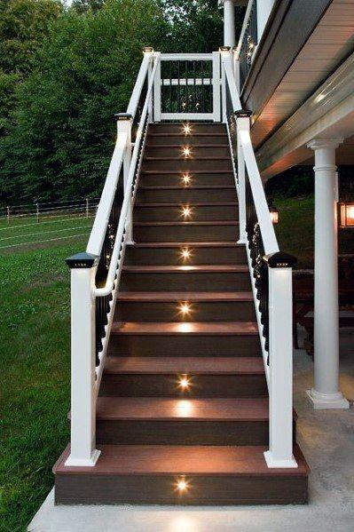 15 Deck Must Haves for Summer Entertaining; deck lighting ideas, solar lights, stair lights, post cap lights