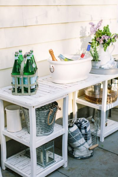 15 Deck Must Haves for Summer Entertaining; outdoor drinks, drink dispensary, patio beverages
