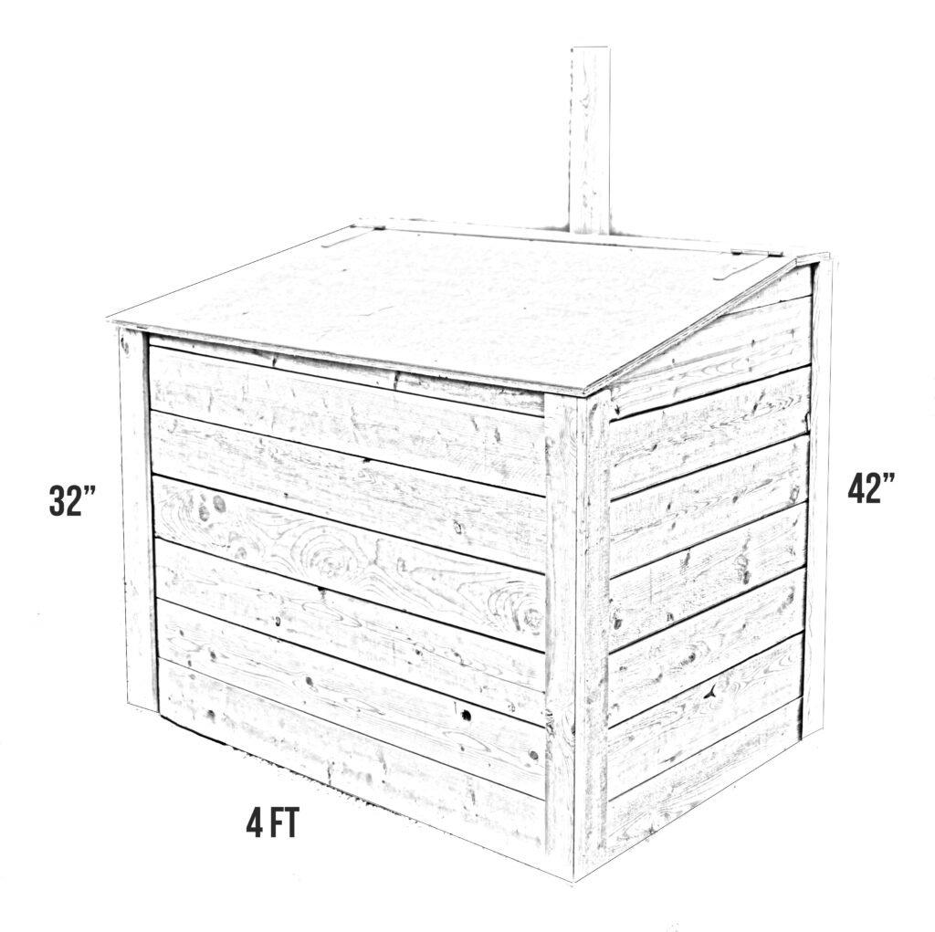 Garbage box sketch measurements