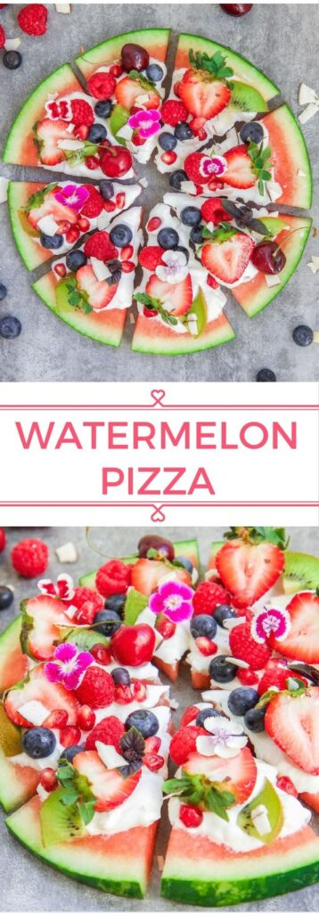 Snacks that Really Healthy People Eat; watermelon pizza