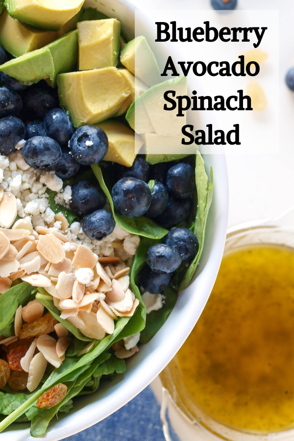 10 salad recipes for fast weight loss: Blueberry and Avocado Spinach Salad