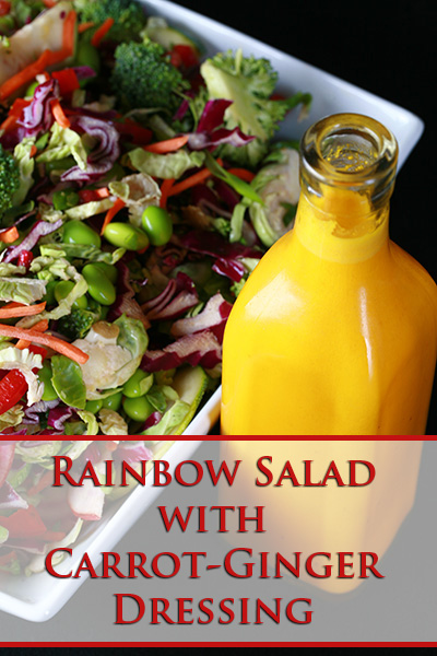 10 salad recipes for fast weight loss: Rainbow Salad with Carrot Ginger Dressing