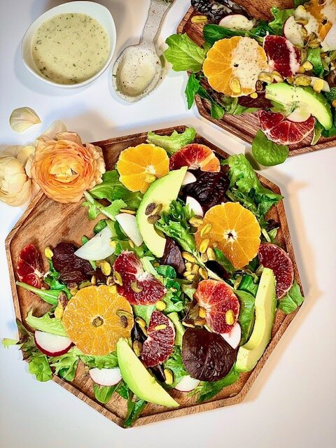 10 salad recipes for fast weight loss: Blood Orange and Herb Salad