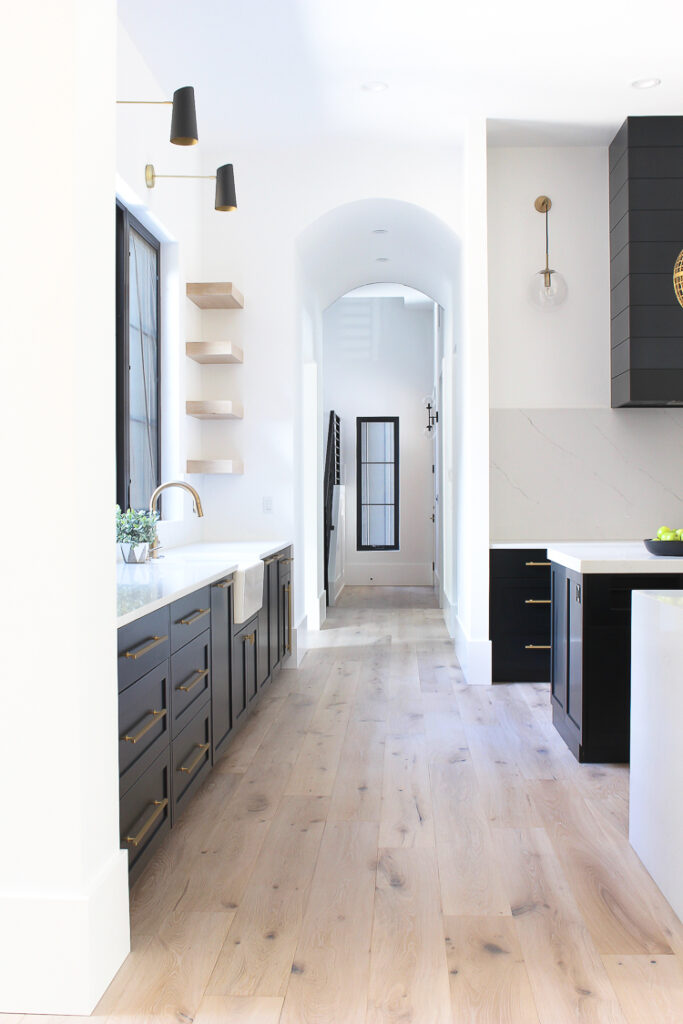 Best Home Decor Instagram Accounts You Should Be Following; modern black and white kitchen