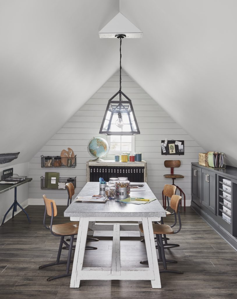 craft room; Joanna Gaines Full Farmhouse Tour: Entire look inside Chip and Joanna Gaines's home