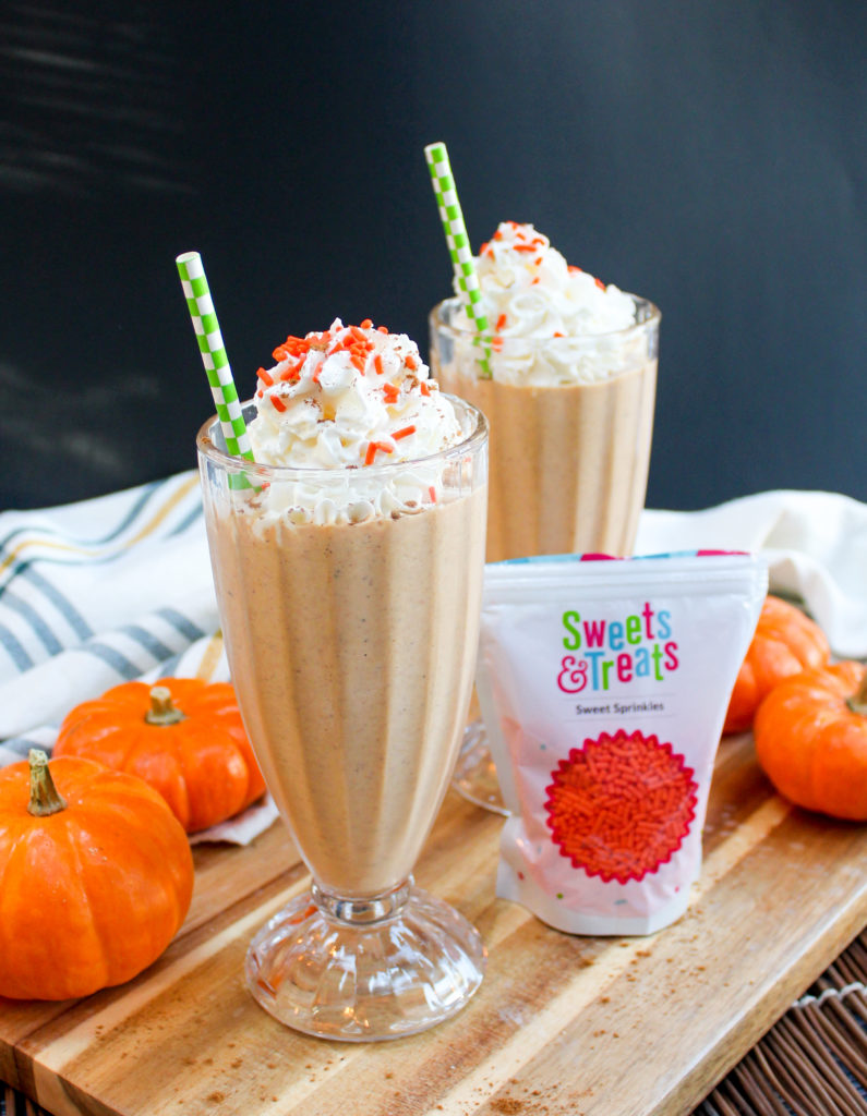 Pumpkin Pie Milkshake - 15 Delicious Pumpkin Drinks for Foodies; Easy and tasty fall drinks to sip on during the autumn season!