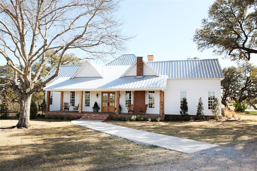 White Farmhouse Exterior: Joanna Gaines Full Farmhouse Tour: Entire look inside Chip and Joanna Gaines's home