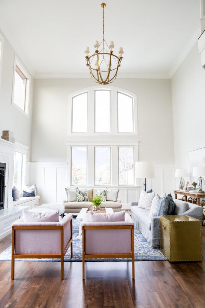 Studio Mcgee living room, grand room, large windows