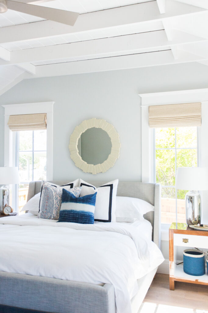 Studio McGee by Bedrooms: Windsong Project; light blue bedroom