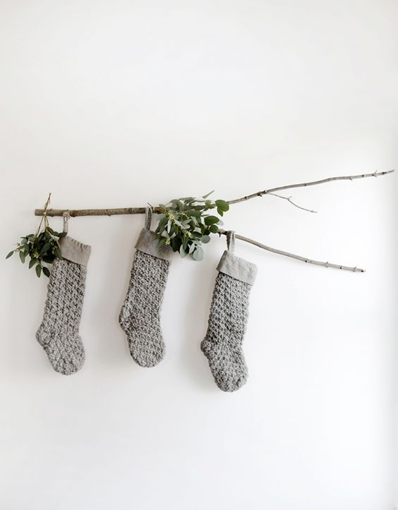 Where to Hang Stockings if You Don't Have a Fireplace; Christmas Decorations, rustic stockings