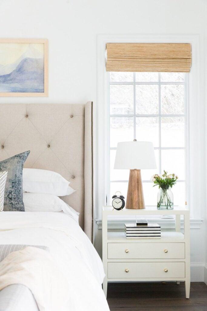 Studio McGee by Bedrooms: Calabasas Remodel; neutral bedroom, beach bedroom, beige bed